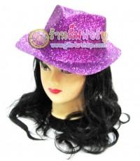หมวกแฟนซีกากเพชร ทรงไมเคิล (สีม่วง)