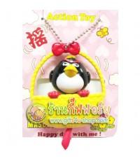 พวงกุญแจ The black bird ในตะกร้าดุ๊กดิ๊ก (Angry Birds)