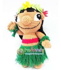 แพทเทิร์น ตุ๊กตาถักไหมพรม สาวน้อยลีโล่ (LILO Amigurumi)