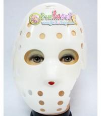 หน้ากากแฟนซี เจสัน (แบบแหว่ง-สีขาว)