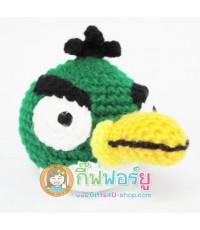 แพทเทิร์น ตุ๊กตาถักไหมพรม The green bird