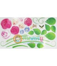 สติกเกอร์ติดฝาผนัง DIY ลายดอกกุหลาบ JYC-031