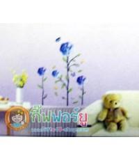 สติกเกอร์ติดฝาผนัง DIY ลายดอกไม้สีม่วง HOT011