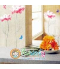 สติกเกอร์ติดฝาผนัง DIY ลายดอกไม้ HL1515