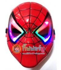 หน้ากาก Spiderman (มีไฟสลับสี)
