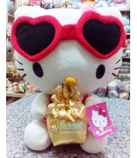 ตุ๊กตาผ้า KITTY ใส่แว่นถือกล่องของขวัญ (11 นิ้ว)