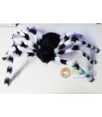 1 ตัว สีขาวดำ แมงมุมยักษ์ แมงมุมปลอม ตุ๊กตาแมงมุม ของเล่นตลก ของเล่นแกล้งคน อุปกรณ์ตกแต่ง ฮาโลวีน