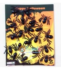 1 ถุง 20 ตัว แมงมุมจิ๋ว แมงมุมปลอม แมงมุมพลาสติก ของเล่นตลก ของเล่นแกล้งคน อุปกรณ์ตกแต่ง ฮาโลวีน