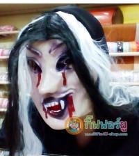 Type B 1 อัน หน้ากากยาง หน้ากากผีสาว ผีผู้หญิงผมยาว หน้ากากแฟนซี หน้ากากฟักทองฮาโลวีน Halloween mask