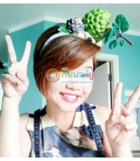 1 อัน ที่คาดผมผลไม้ ที่คาดผมน้อยหน่า ที่คาดผมแฟชั่น ที่คาดผมแฟนซี Fruit Headband