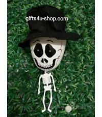 1 ตัว ตุ๊กตาโครงกระดูก ตุ๊กตาแขวน ตุ๊กตาฮาโลวีน มีไฟ มีเสียงหลอน หมาหอน Halloween Doll