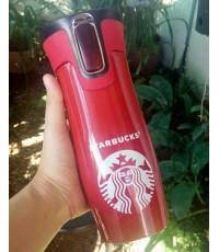 กระบอกน้ำสแตนเลส Starbucks สีแดง (16 oz.)