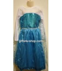 ชุดแฟนซีเด็ก เจ้าหญิงเอลซ่า (M 6-8 ปี) Elsa Frozen