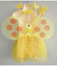 ชุดแฟนซีเด็ก ชุดปีกผึ้งน้อย สีเหลือง (ครบเช็ต)