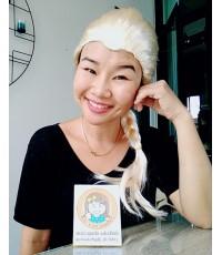 1 อัน เปิดหน้าผาก วิกเอลซ่า วิกเจ้าหญิงโฟรเซ่น วิกผมแฟนซี วิกถักเปีย วิกคอสเพล Frozen Elsa wig