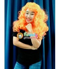1 อัน สีส้มฟู วิกฟาร่า วิกผมยาวดัดลอน วิกนางงาม วิกคอสเพล วิกผมปลอม วิกแฟนซี Farah Wig fancy
