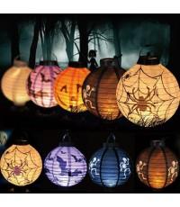 ราคาส่ง 10 อัน โคมไฟฮาโลวีน โคมไฟแขวน โคมไฟกระดาษ โคมกระดาษ โคมแขวน Lantern halloween