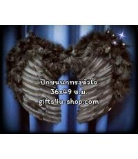 1 อัน สีดำ ทรงตัวหัวใจ ปีกนางฟ้า ปีกเทวดา ปีกขนนก ปีกแฟนซี สำหรับเด็ก Fancy Wing