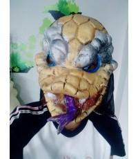 1 อัน หน้ากากยาง หน้ากากงูผี หน้ากากแฟนซี หน้ากากฟักทองฮาโลวีน Snake Halloween mask