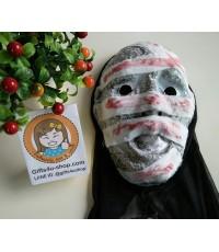 1 อัน สีเทา หน้ากากผีดิบ หน้ากากมัมมี่ หน้ากากผี หน้ากากฮาโลวีน หน้ากากแฟนซี halloween mask