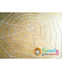 1 ผืน สีขาว ขนาดใหญ่ 3x3 เมตร ใยแมงมุมยักษ์ ไยแมงมุม อุปกรณ์ประดับ ตกแต่ง บรรยากาศ งานฮาโลวีน