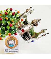 1 อัน ขนาดใหญ่ สีเงิน มงกุฎพระราชา มงกุฎเจ้าชาย มงกุฎปัจฉิม มงกุฎรับปริญญา crown congratulation