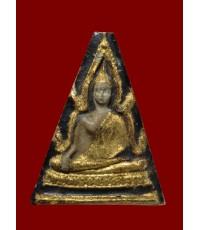 พระผงพิมพ์พระพุทธชินราช ลงลักปิดทองเก่า พิมพ์ใหญ่หลังเรียบ ออกวัดบ่อวิน
