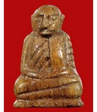 หลวงพ่อเงิน บางคลาน เนื้อไม้โพธิ์แกะ รุ่นอธิฐาน ปี 2515