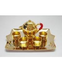 ชุดกาน้ำชาทรงป้อมถาดเหลี่ยม