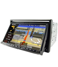 "7"" 2 Din Media center with **built in GPS navigator + Bluetooth"