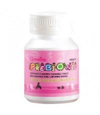 ผลิตภัณฑ์เสริมอาหารสำหรับเด็ก พรีไบโอนี่ 100 เม็ด กลิ่นฟรุ๊ตตี้