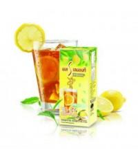 เอส เลมอนทีเครื่องดื่มชาปรุงสำเร็จชนิดผง กลิ่นเลมอน ผสมแอล-คาร์นิทีน และวิตามินแพค 10 ซอง