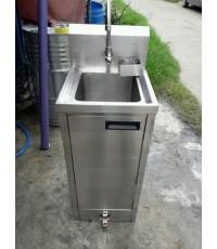 ซิ้งค์ ล้างจานสแตนเลส อ่างล้างจาน 2ระบบเท้าเหยียบ - มือเปิด (รับสั่งทำตามคิวล่วงหน้า)