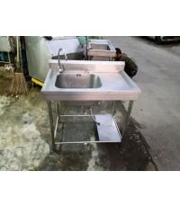 ซิ้งค์ล้างจานสแตนเลสหนาหลุมเดี่ยวลึก 25cmสแตนเลสแท้หนา 304 ขายถูกๆ แถมก๊อกสายน้ำดีครบพร้อมใช้งาน