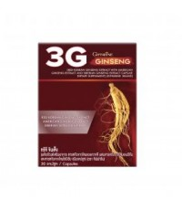 Giffarine 3G ginseng ประกอบด้วยโสม 3 ชนิดเข้มข้นคุณภาพสูง บรรจุกล่อง 30 แคปซูล