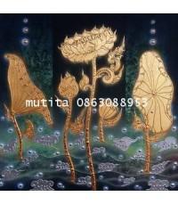 ภาพวาดลายทอง ลายไทย 10359