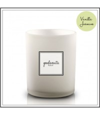 ECO White Glass Candle:WGC-009