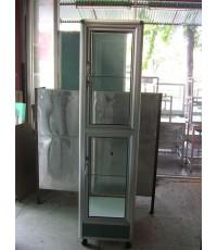 ตู้กระจกใส แบบสูง อลูมิเนียม วางของโชว์