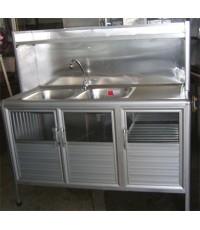 ซิงค์ อ่างล้างจาน 2 หลุม (กันสนิม)