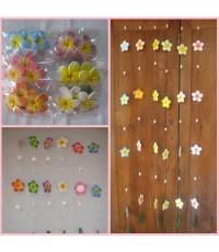 โมบายเซรามิค รูปดอกไม้ ราคาเส้นยาว ขนาด 150 ซม. ราคาเส้นละ 59 บาท