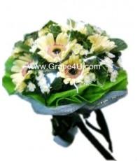 ช่อดอกไม้โทนขาว B022