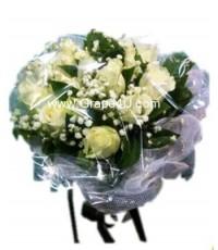 ช่อดอกกุหลาบขาว B025
