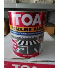 สีทาถนน TOA Road Line Paint แบบสะท้อนแสง 0717 สีขาว
