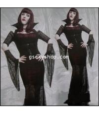 ชุดแฟนซี vampire ผีดูดเลือด แม่มด แดรกคูล่าสาว Halloween Party สวย หรู ดูดีมีระดับ