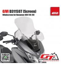 GIVI D3115ST Screen for Suzuki Burgman 400