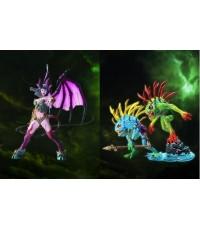 ~World Of Warcraft-Serie 4:Succubus Demon AmberlashMurlocs Fish-eye Gibbergill:SET 2 piece