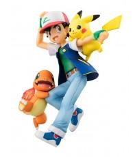 ~ MegaHouse : G.E.M. Series Pokemon Ash Ketchum, Pikachu, and Charmander (PVC Figure) ~(J.P Ver)