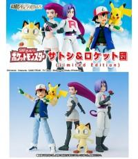Bandai : Pokemon : S.H Figuarts Satoshi + Rocket Group (Limited Edition)(PVC,ABS) TAMASHII LIMITED