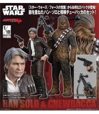 Kotobukiya : Star Wars Episode VII: ARTFX+ Han Solo-Chewbacca 2Pack Force Awakens Version (1/10)