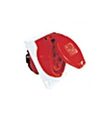 เต้ารับแบบฝังทรงเฉียง ชนิดกันฝุ่น (Flange H97 x W80 mm.) Flanged Sockets Sloping-HACO-425-6V